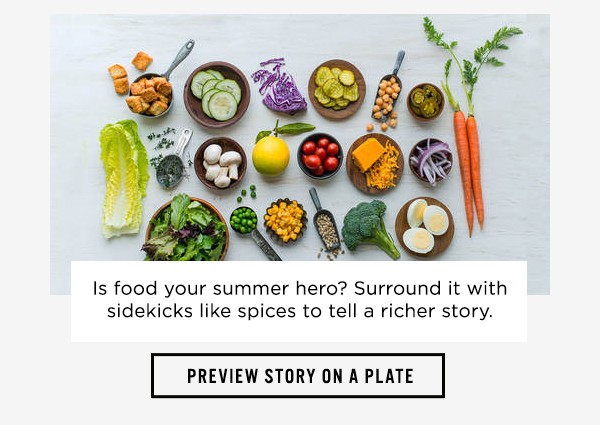 Preview story on a plate