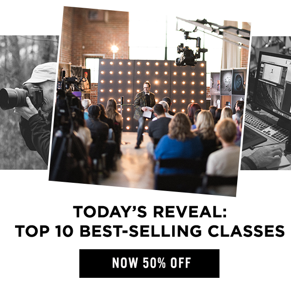 Today's Reveal: Top 10 Bestselling Classes