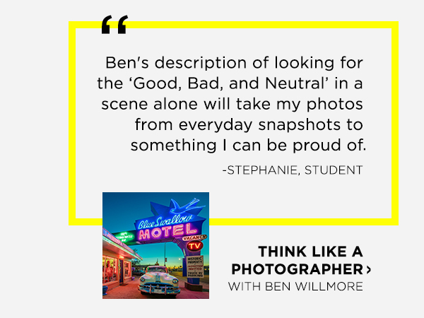 Think Like A Photographer with Ben Willmore