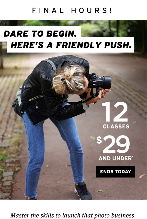 29 classes for $29 and under final hours!
