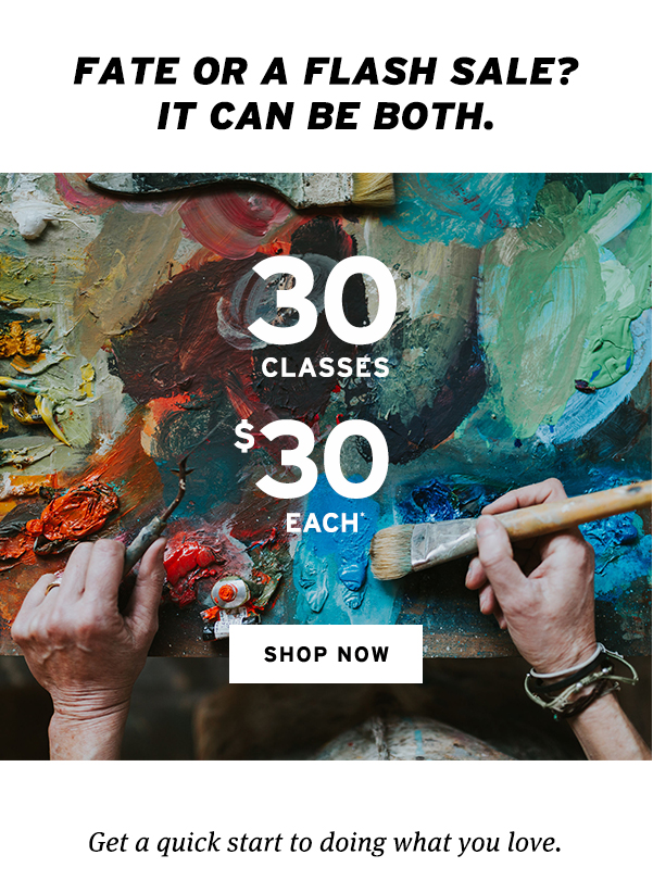 30 classes for $30 each