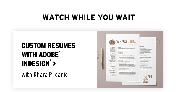 Customer Resumes with Adobe Indesign