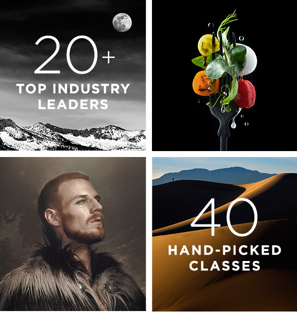 20+ top industry leaders. 40 hand-picked classes