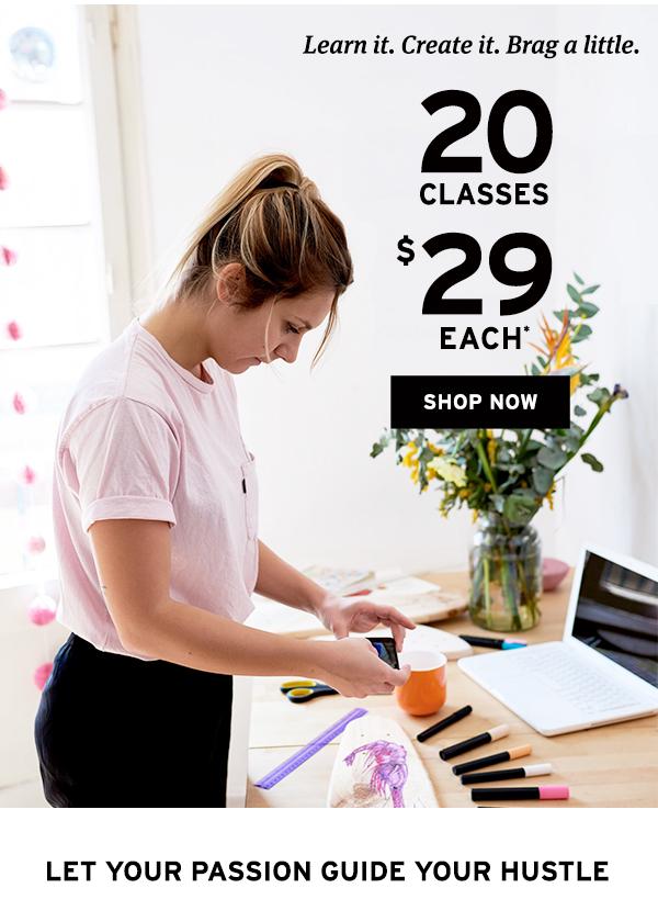 20 classes $29 each