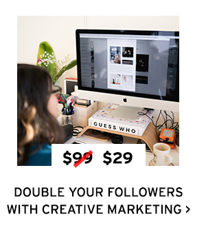 Double Your Followers with Creative Marketing