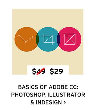 Basics of Adobe CC: Photoshop, Illustrator & Indesign